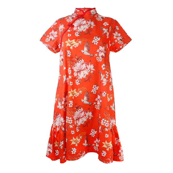Angel Ladies Dress - Red Bird