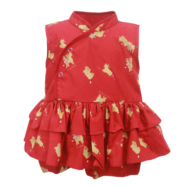 Bonnie Baby Girl Romper - Red Ox
