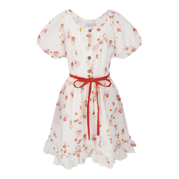 Amelia Dress Girls Ratties (White)