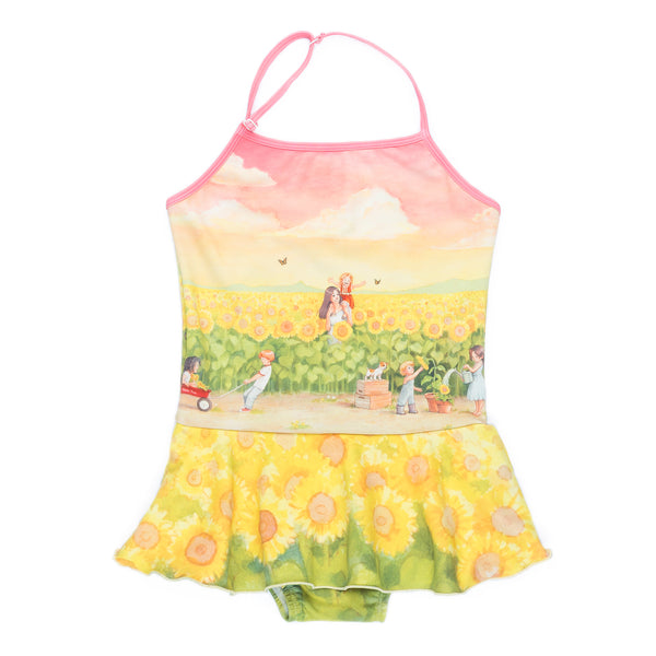 Halter Swimwear - Sunflower Fields