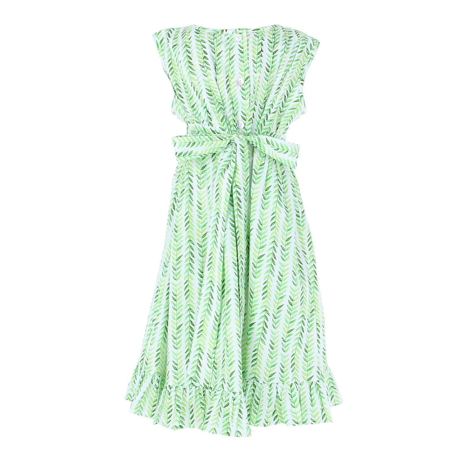 Indie Dress Green Leaves