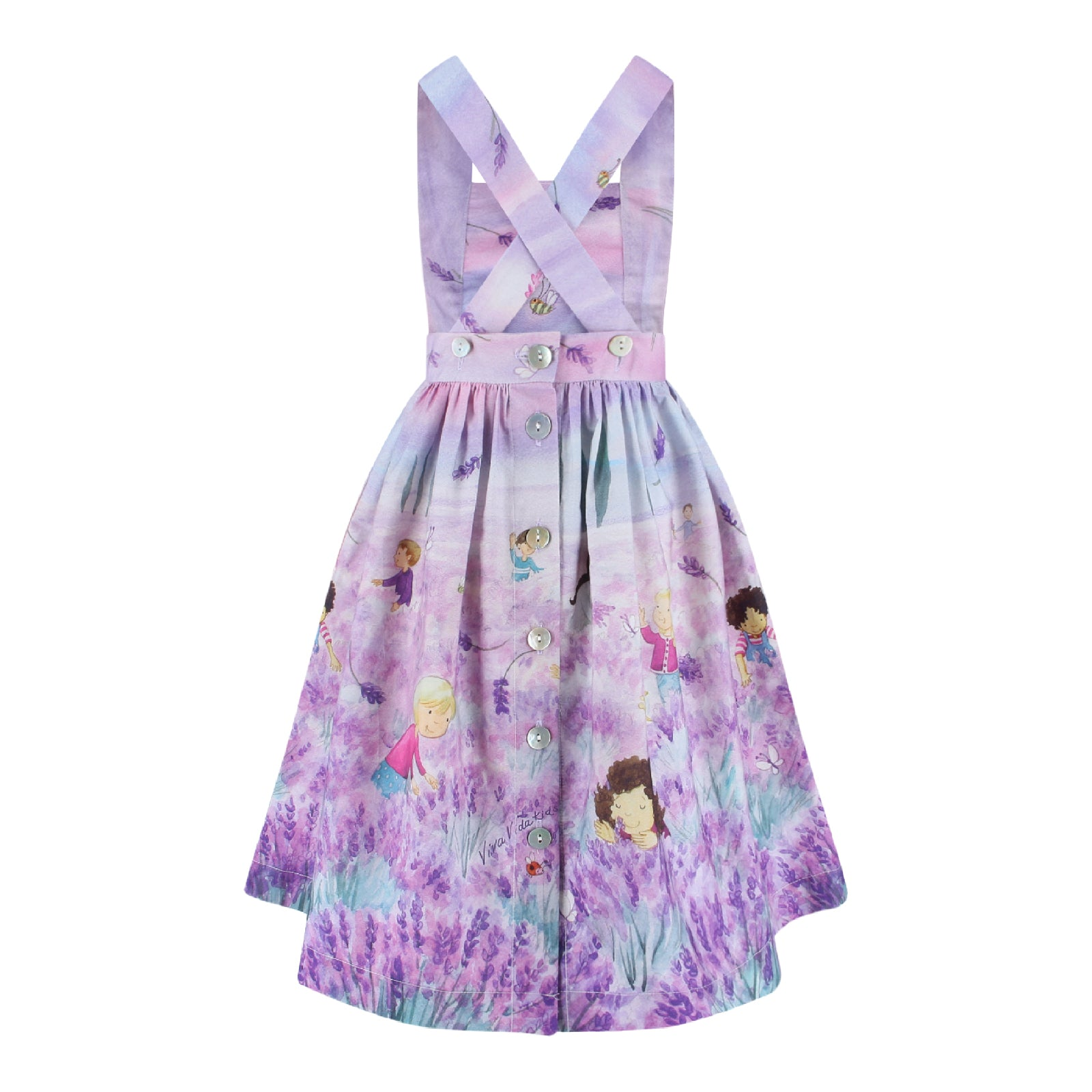 Sophia Dress - Lavender Fields