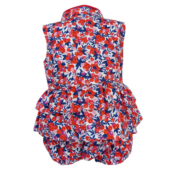 Bonnie Baby Girl Romper - Berries
