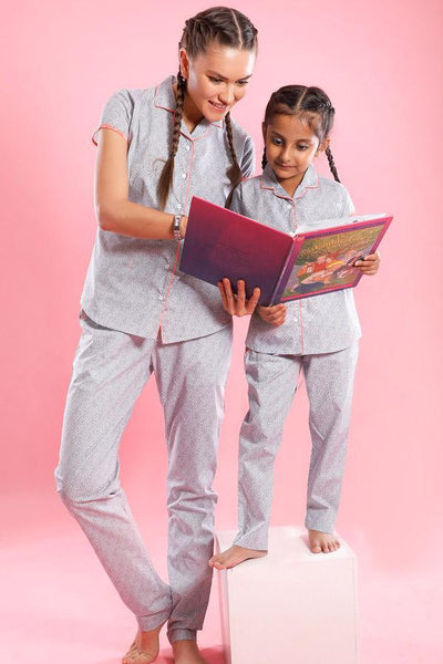 Sweet Dreams, Matching Sleep Wear For Mom And Daughter