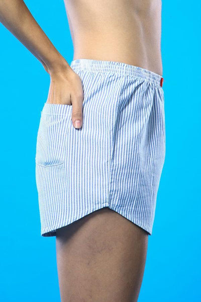 Stripe Me Over Matching Cotton Couple Boxers