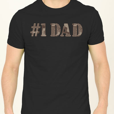 #1 Dad And Daughter Matching Tshirt
