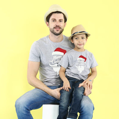 Merry Christmas From Santa Dad And Son Tees