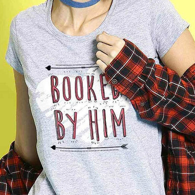 Booked by Him/Her Combo Tee