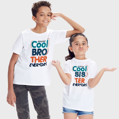 Awesome Cool, Matching Tees For Brother And Sister