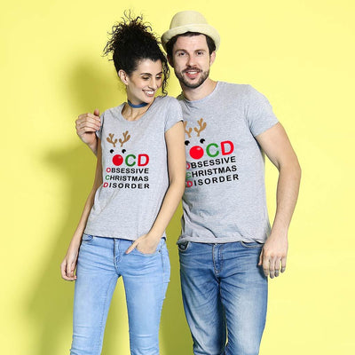 Obsessive Christmas Couples Tees