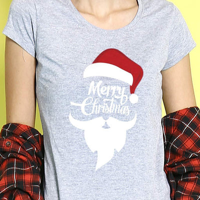 Merry Christmas Single Tee For Women