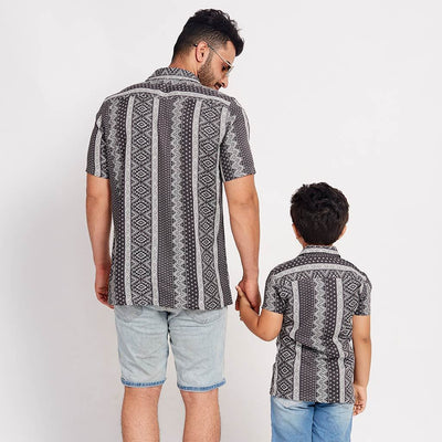 Ziz-zag Madness, Matching Shirts For Dad And Son