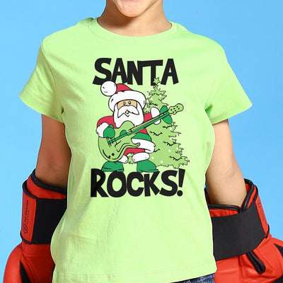 Santa Rocks Christmas Tees