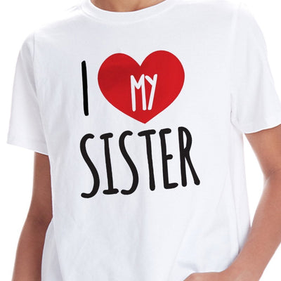 I Love My Brother/Sister,Matching Tees For Brother And Sister