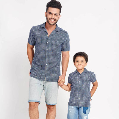 Breezy Blue, Matching Shirts For Dad And Son