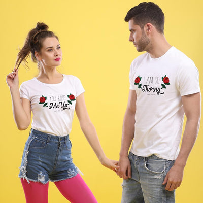 Roses And Thorns, Matching Couple Tees