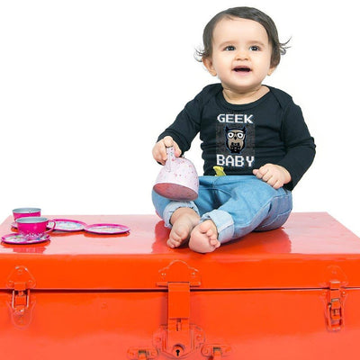 Geek Dad Geek Mom Geek Baby Bodysuit and Tees