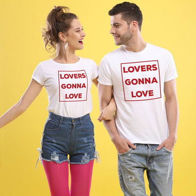 Just Want To Love, (White) Matching Couple Tees