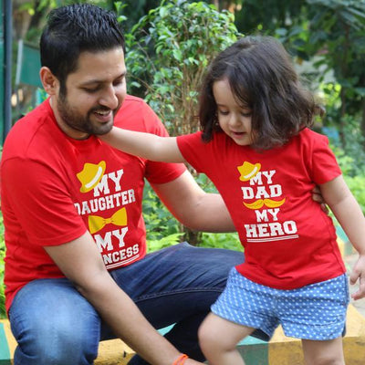 My princess / My Hero, Matching Dad And Daughter Matching Tees