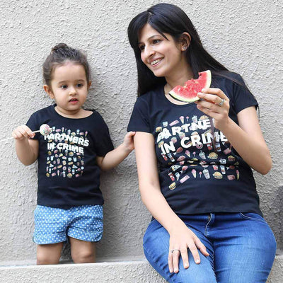 Crime Partners, Mom And Daughter Matching Tees