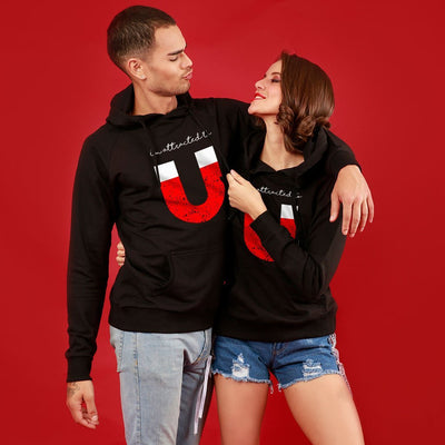You (Black)  Matching Hoodies For Couples
