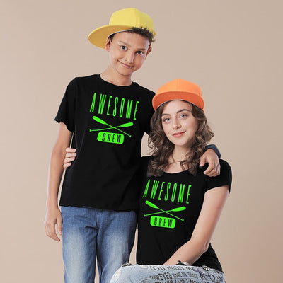 Awesome Crew Mom And Son Tees