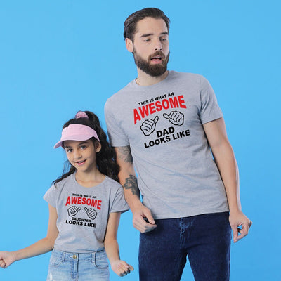 Awesome Dad and Daughter Tees