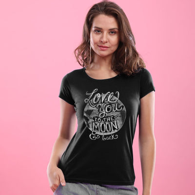 Love You To The Moon Matching Couple Tees