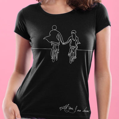 With you i am home , Matching Couple Tees