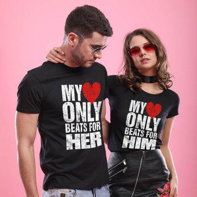 Heart Beat, Matching Couple Tees