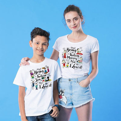Being An Indian Mom/Son Tees