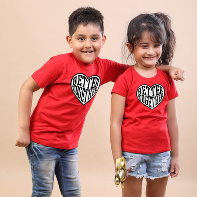 Together Is Better, Matching Tees For Brother And Sister