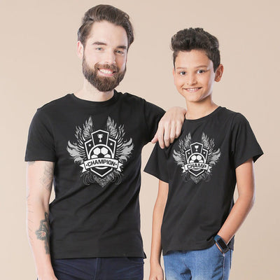 Black Champion Father-Son Tees