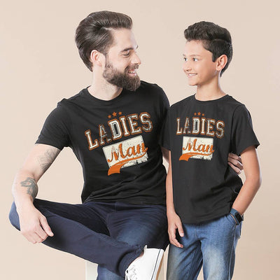 Black Ladies Man Father-Son  Tees
