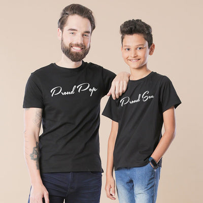 Black Proud Father-Son Tees