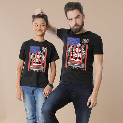 Black Top Gun/Son Father-Son Tees