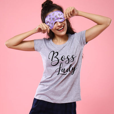 Boss Lady, Matching Tee And Bodysuit For Mom And Baby (Girl)