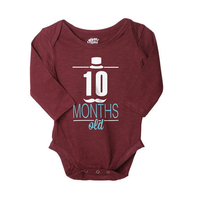 My 10th-12th Month, Set Of 3 Assorted Bodysuits For The Baby