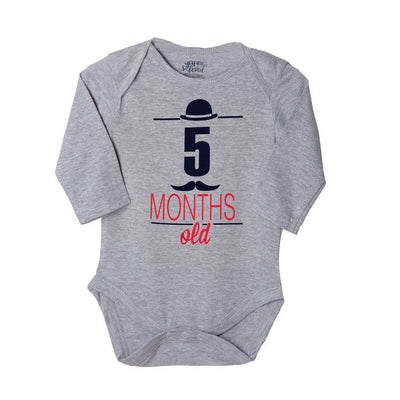 My 4th-6th Month, Set Of 3 Assorted Bodysuits For The Baby