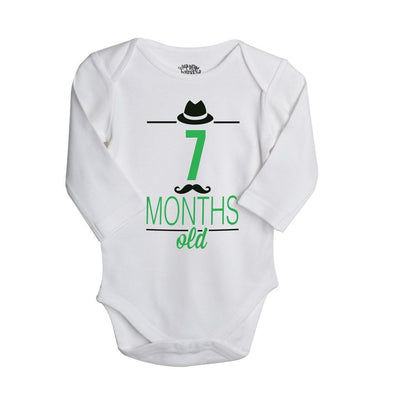 My 7th-9th Month, Set Of 3 Assorted Bodysuits For The Baby