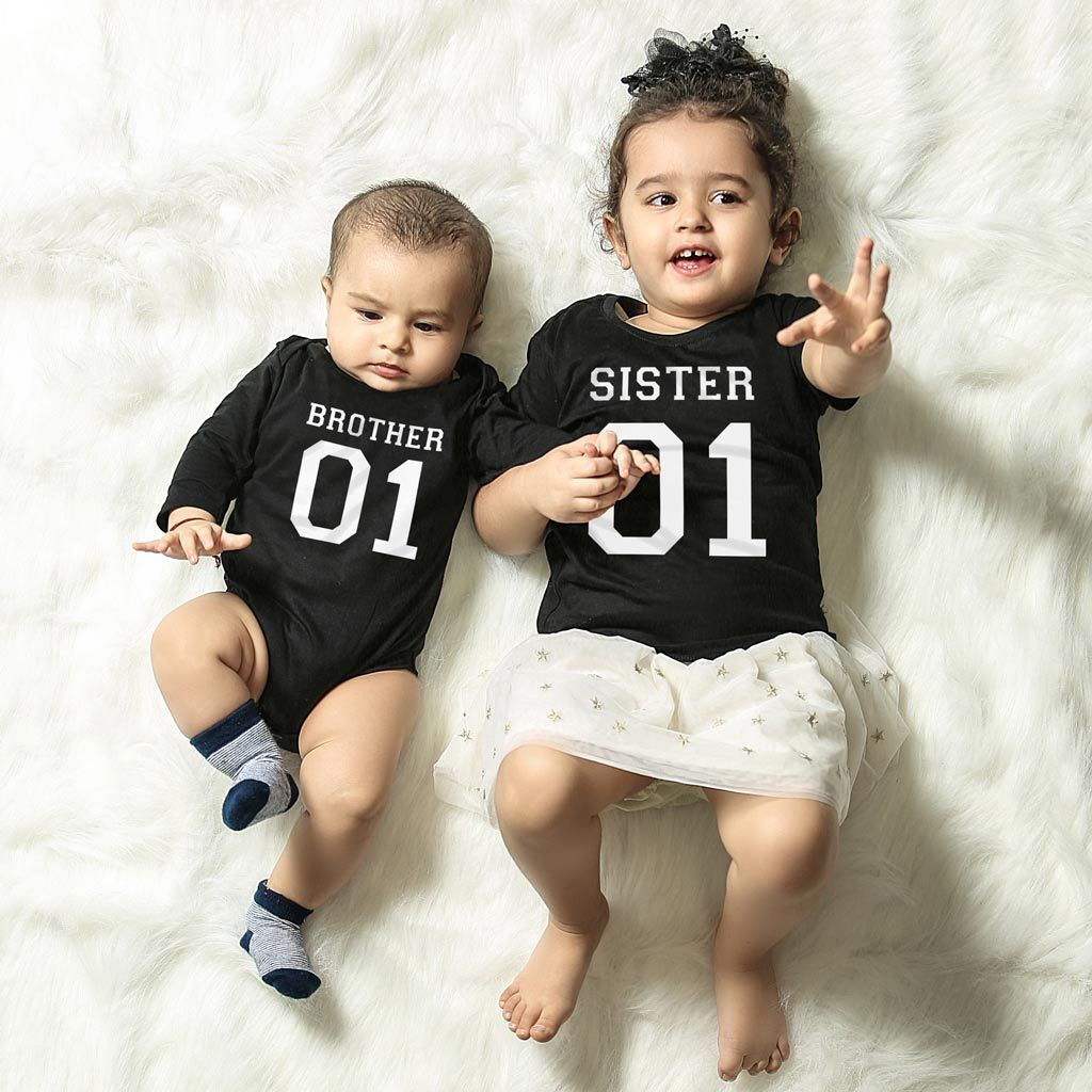 Brother Sister Matching Bodysuit And Tee For Brother And Sister