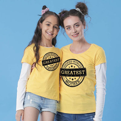 Certified Greatest Daughter/Certified Greatest Mother Tees