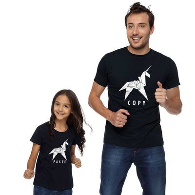 Copy Paste Dad And Daughter Matching Tshirt