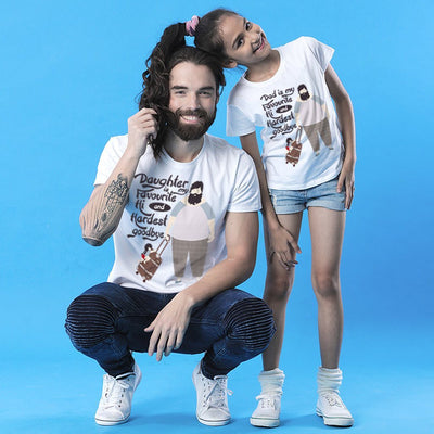 Hi and Hardest Goodbye Dad & Daughter Tees