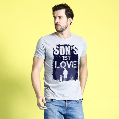 Grey Melange First Love Father-Son Tees