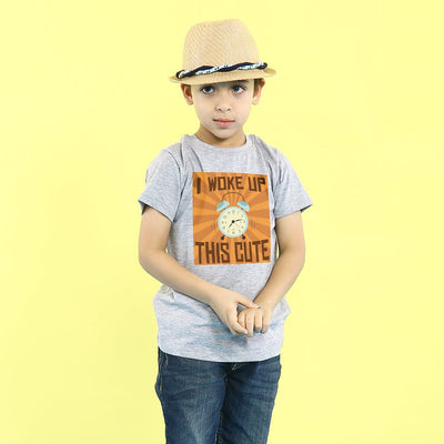 Grey Melange Woke Up This Cool Father-Son Tees