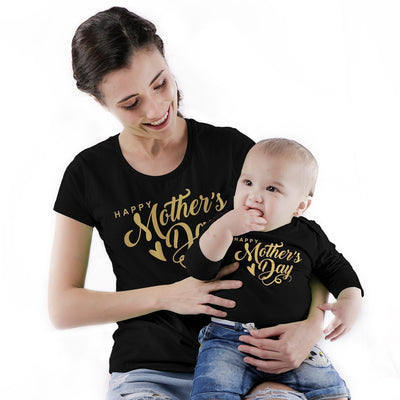 Happy Mother's Day Mom & Baby Bodysuit And Tees