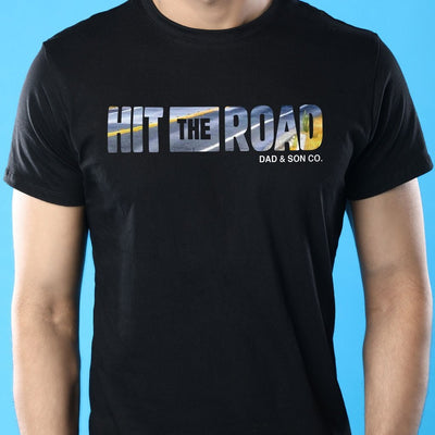 Hit The Road, Dad And Son Matching Adult Tees