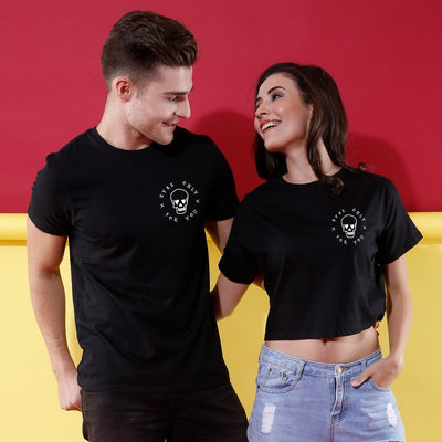 I 've got my eyes on you! (Black) Matching Couples Crop Top & Tee