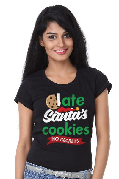 I Ate Santa's Cookies, Single Tee For Women